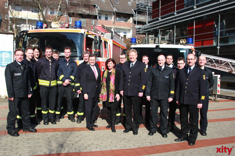 Feuerwehr Düsseldorf empfängt seltenen Besuch (xity-Foto: D. Creutz)