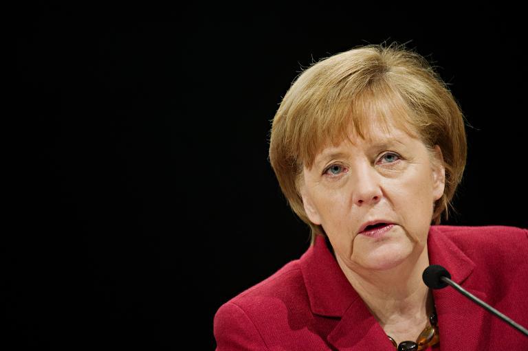 Union gewinnt durch internationale Krisen an Zustimmung (© 2015 AFP)