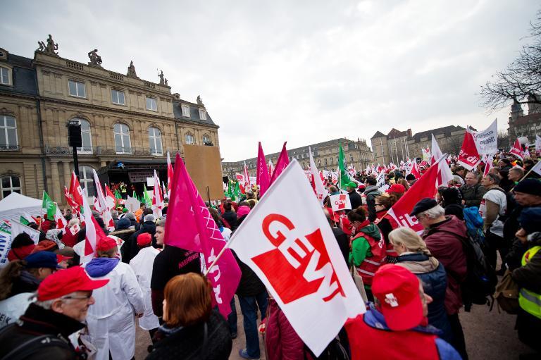 Erneut Warnstreiks im Öffentlichen Dienst (© 2015 AFP)