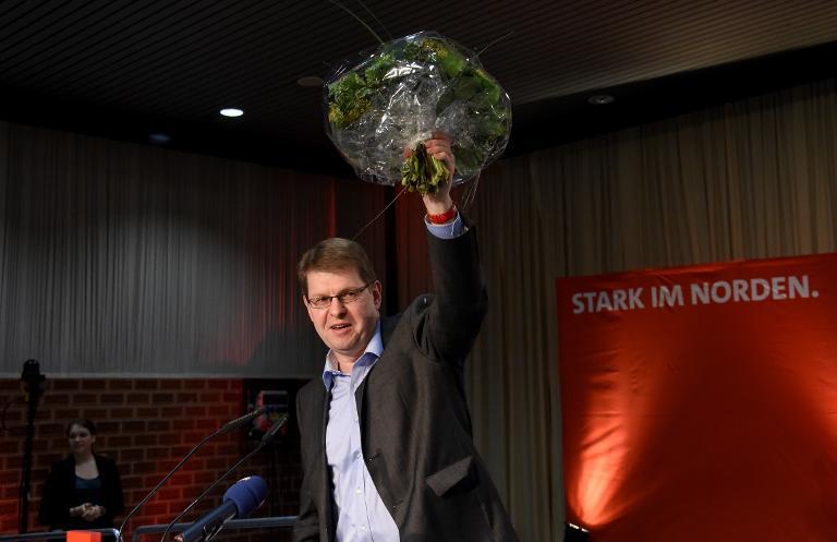 Schleswig-Holsteins SPD-Chef Stegner wiedergewählt (© 2015 AFP)