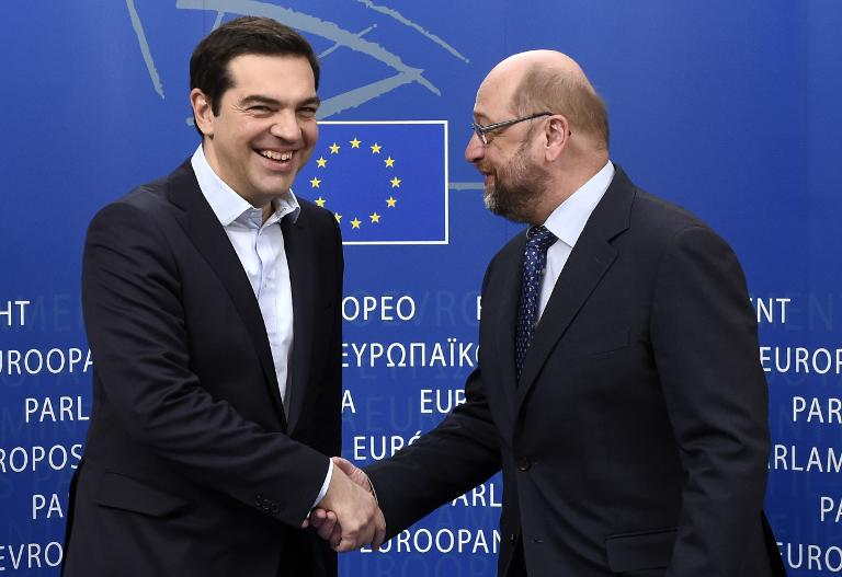 Athen droht angeblich Ende März das Geld auszugehen (© 2015 AFP)