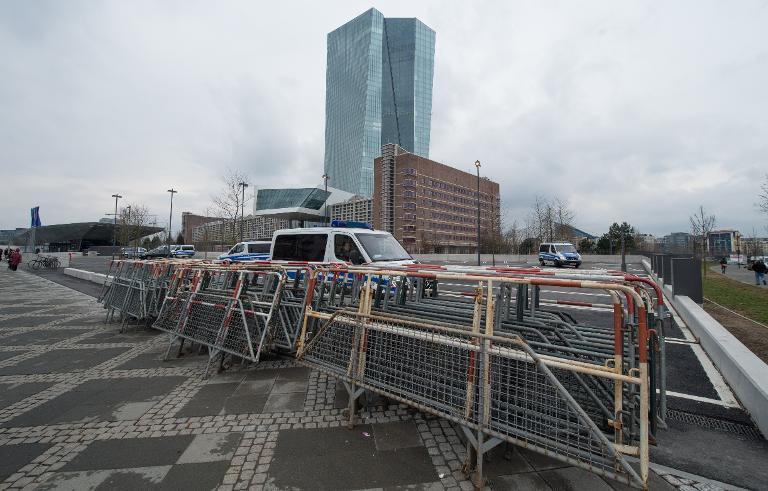 Einschreiten gegen Gewalt bei EZB-Eröffnung angekündigt (© 2015 AFP)