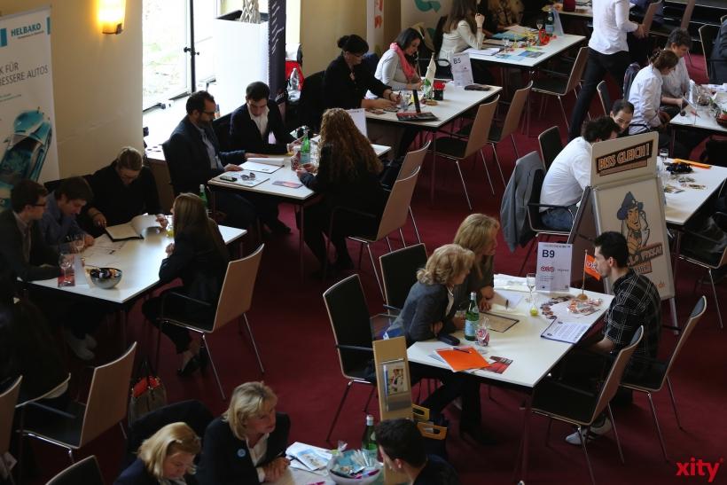 IHK Düsseldorf und Wirtschaftsjunioren Düsseldorf laden gemeinsam in die Rudas Studios ein zum Business-Speed-Dating (xity-Foto: D. Creutz