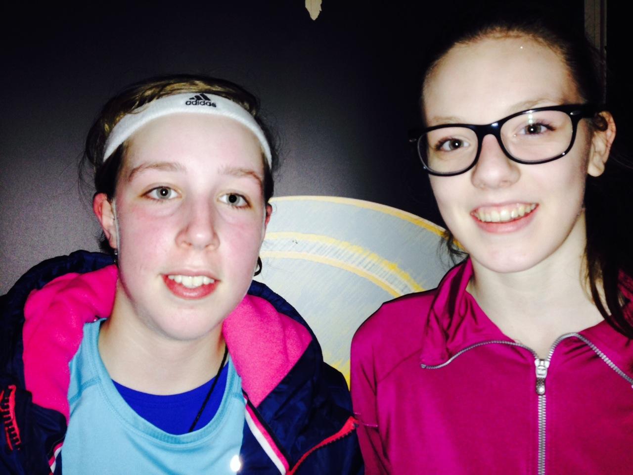 Antonia Roessli (l.) und Laura Meuserova (Foto: M.A.R.A. Sport-Consulting)