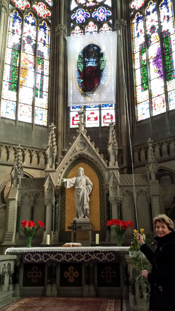 Fastentuch wird bundesweit in Kirchen gezeigt (Foto: Privat)