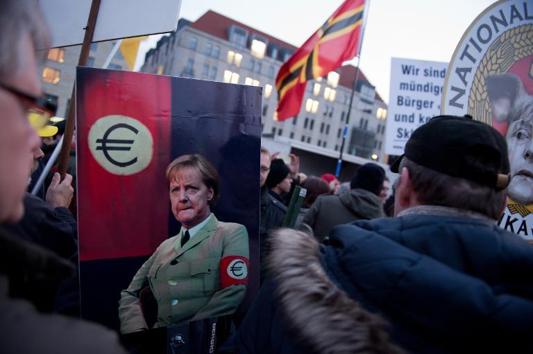 SPD empört über CDU-Treffen mit Pegida-Anhängern (© 2015 AFP)
