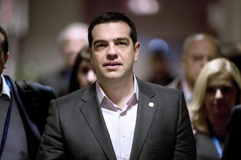 Griechischer Regierungschef Tsipras zu Besuch bei Merkel (© 2015 AFP)