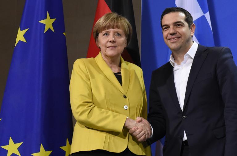"""Merkel und Tsipras sprechen in """"guter Atmosphäre"""" (© 2015 AFP)"""
