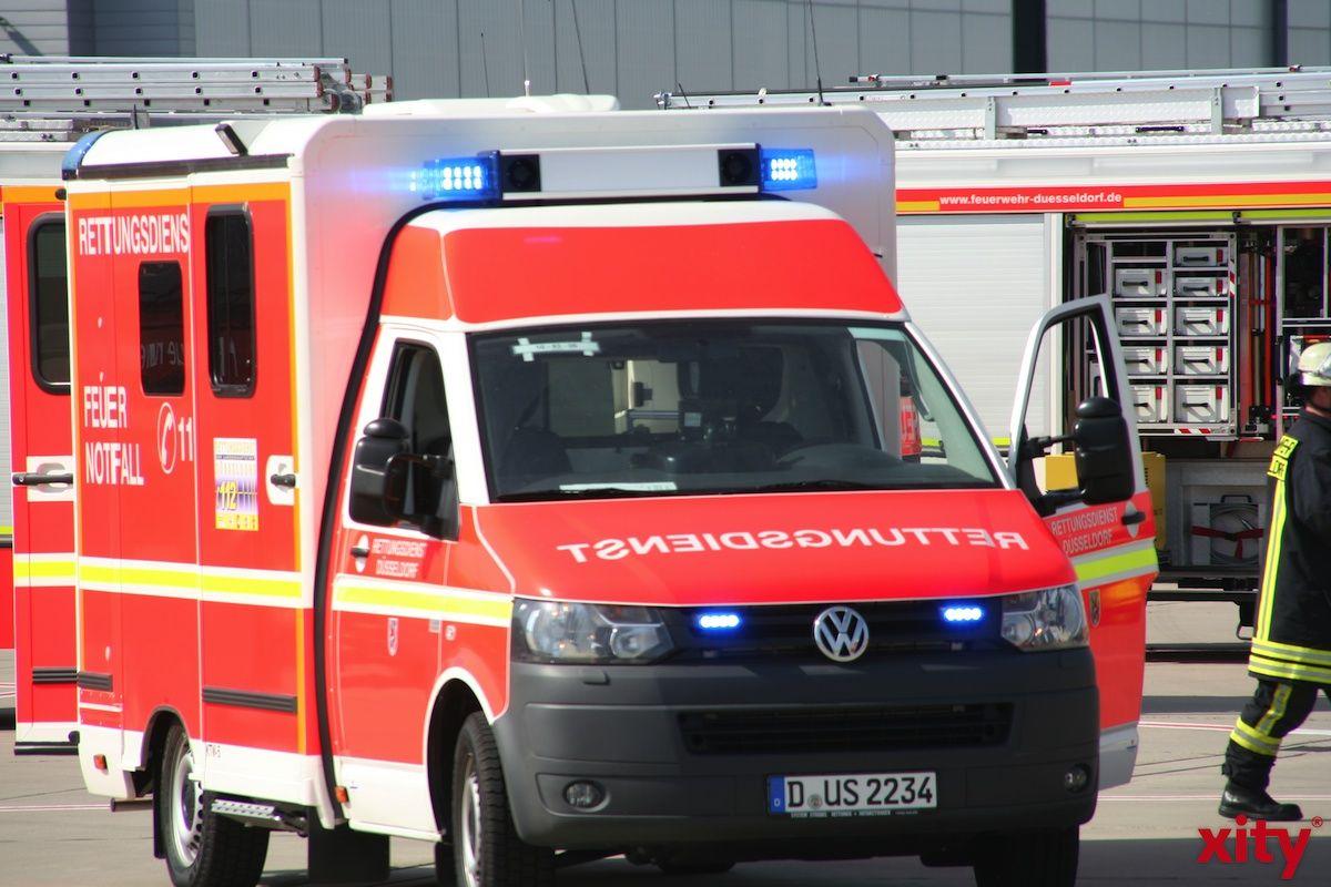 Unfall auf der Baustelle Düsseldorfer Straße (Foto: xity)