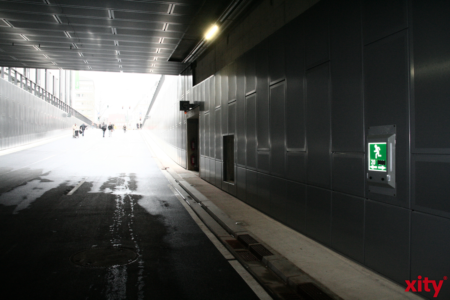 The North-West-Tunnel will be closed on the nights between Monday and Thursday. (xity-Picture: M. Völker)