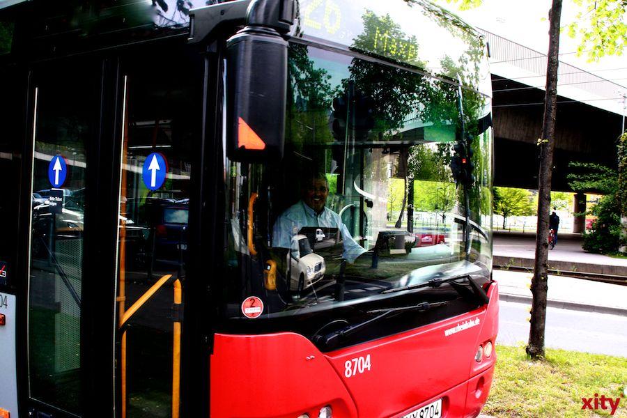 Die Busse der SWK fahren mindestens bis einschließlich Karfreitag nicht über den Ostwall. (xity-Foto: D. Mundstock)