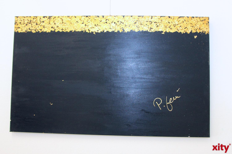 Auch Materialien wie Blattgold verwendet Przemek Lemanczyk gerne. (xity-Foto : S.Jacobs)