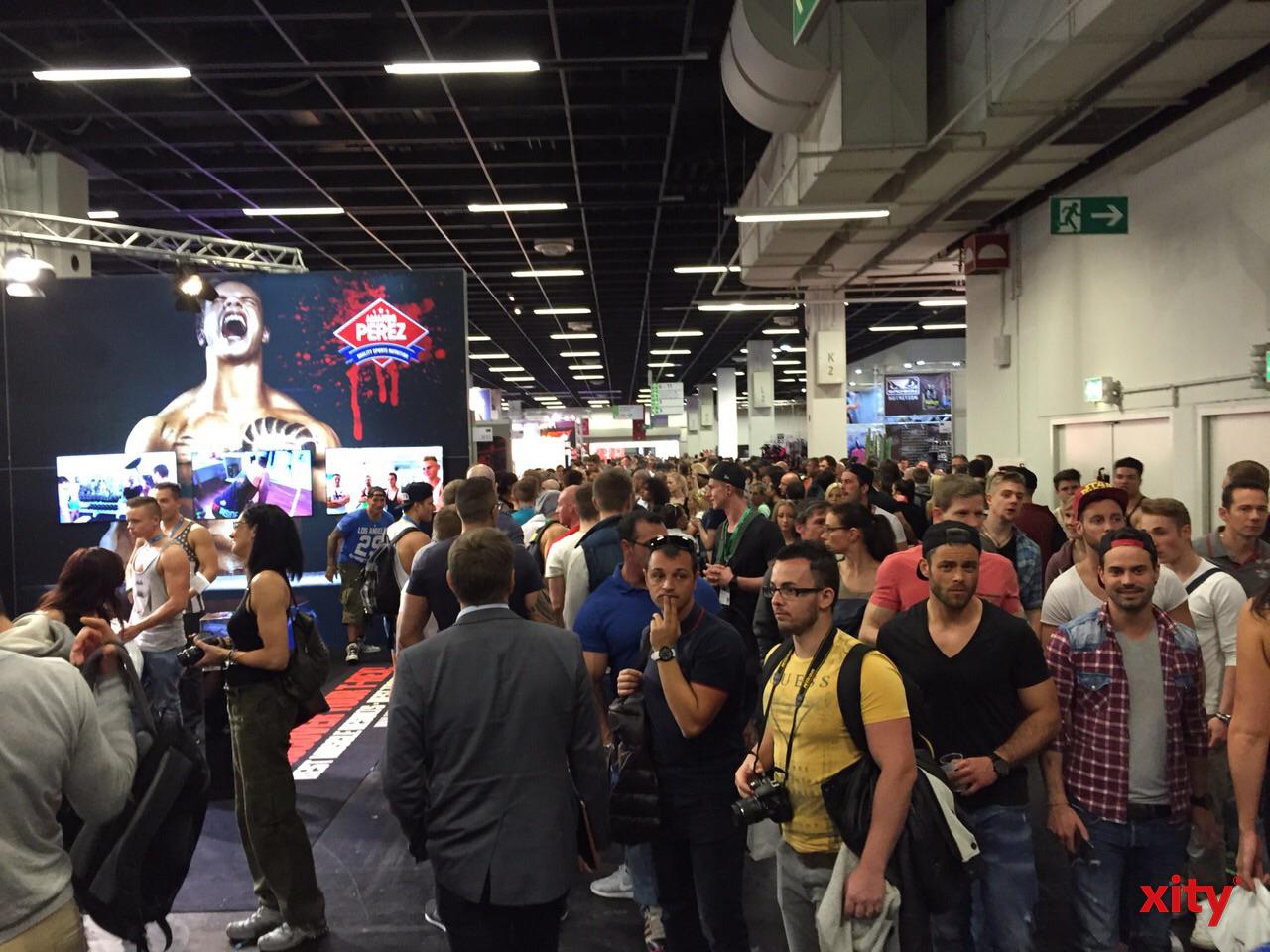 Die Massen strömten in die Kölnmesse zur FIBO 2015 (xity-Foto. D.Creutz)