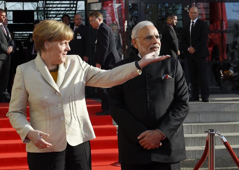 Indiens Premier trifft Steinmeier und Merkel in Berlin (© 2015 AFP)
