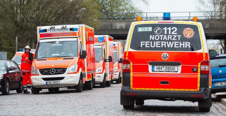 Sachschaden bei Brand in Hamburger Flüchtlingsunterkunft (© 2015 AFP)