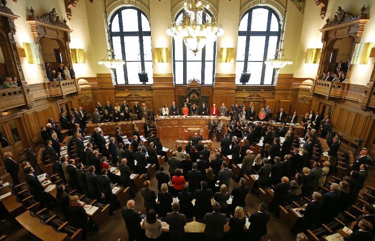 Hamburgs Bürgermeister Olaf Scholz wiedergewählt (© 2015 AFP)