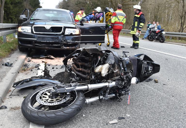 Bei gutem Wetter mehr Motorradunfälle (© 2015 AFP)