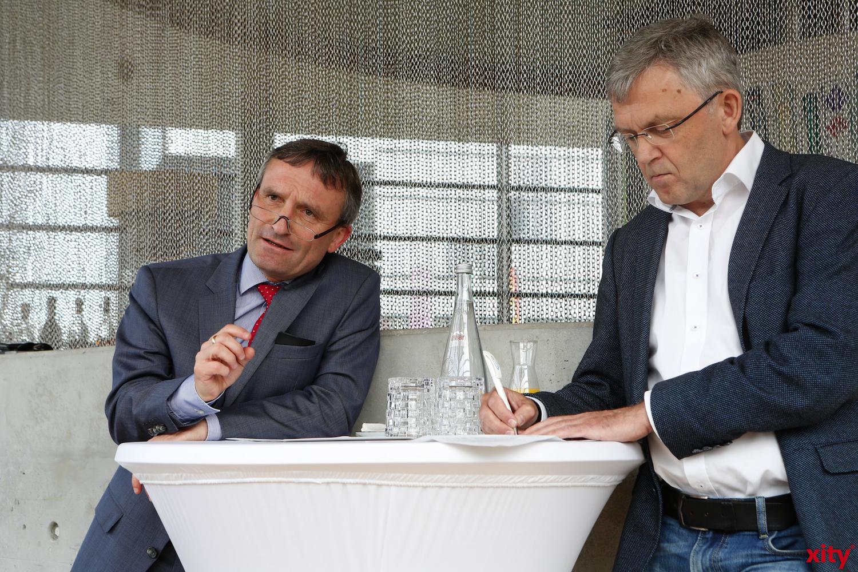 Thomas Geisel (l.) stellt die Startupinitiative Düsseldorf vor(Foto: xity)