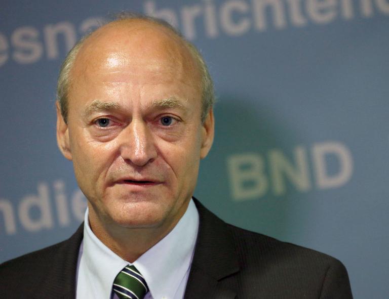 BND-Chef Schindler sagt vor Untersuchungsausschuss aus (© 2015 AFP)