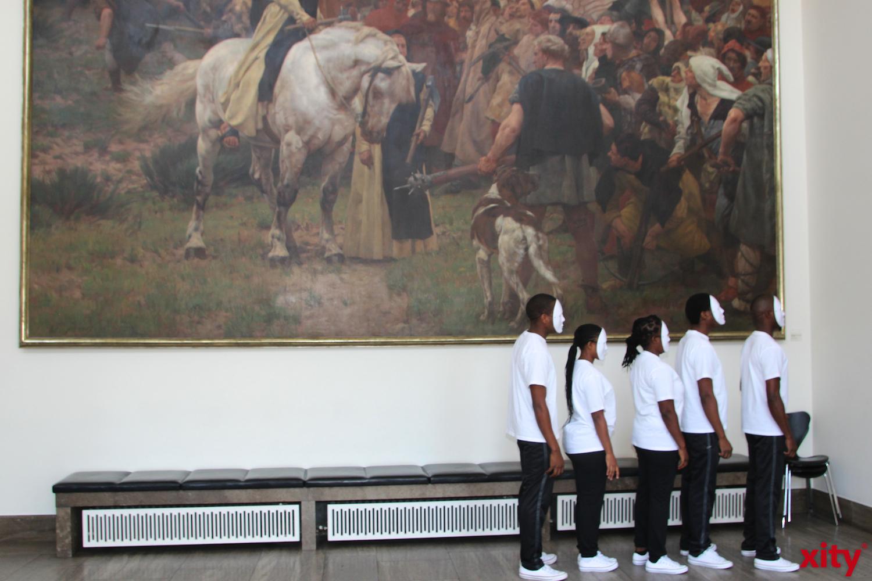 """Die Performance vor der """"Schlacht um Worringen """" (Foto: xity)"""