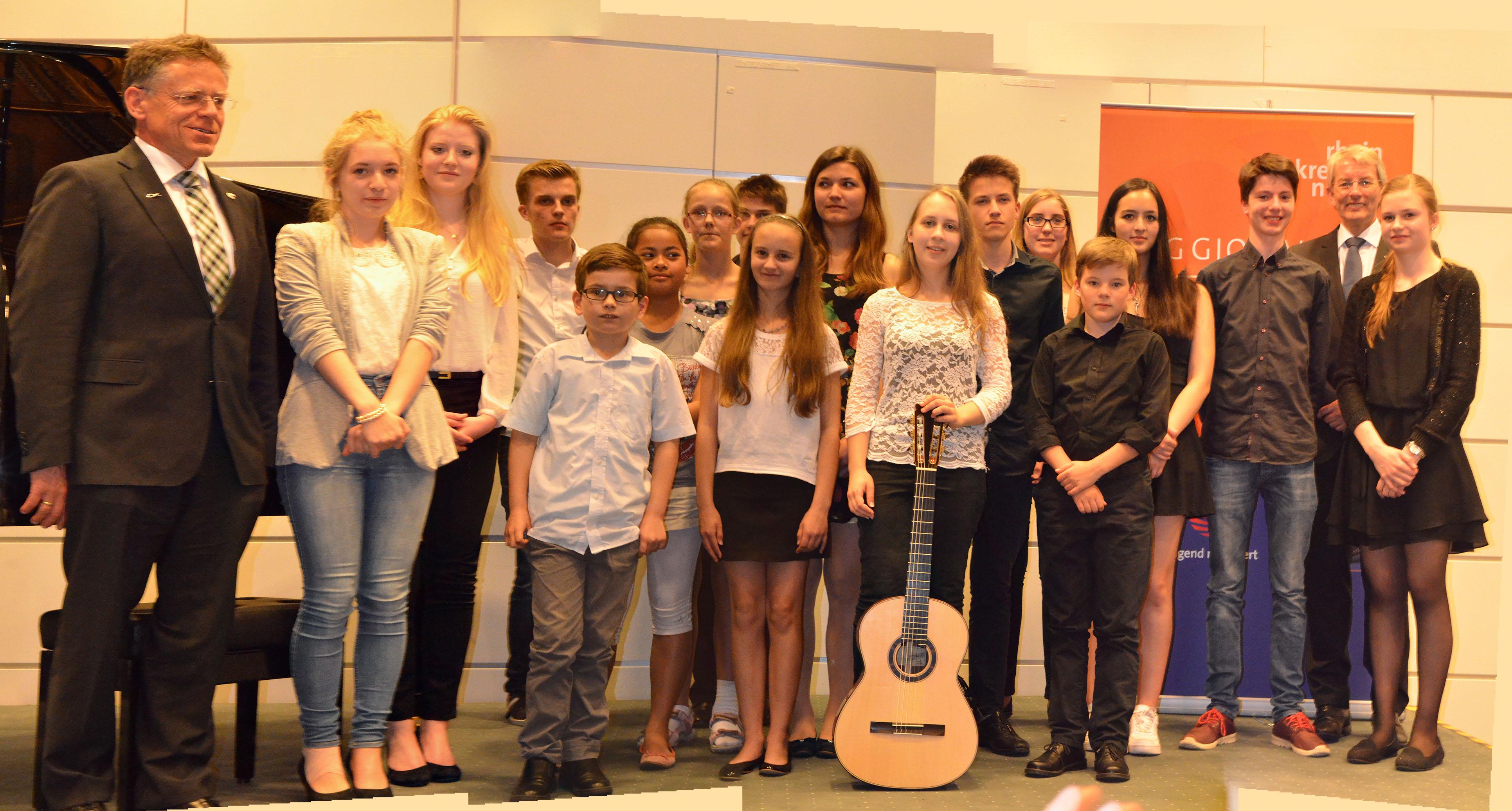 """Preisträgerinnen und Preisträger des Landeswettbewerbs """"Jugend musiziert"""" gaben jetzt in Neuss ein anspruchsvolles Konzert (Foto: P. Seidler)"""