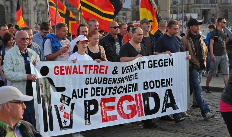 Pegida-Unterstützer überwiegend nicht rechtsradikal (© 2015 AFP)