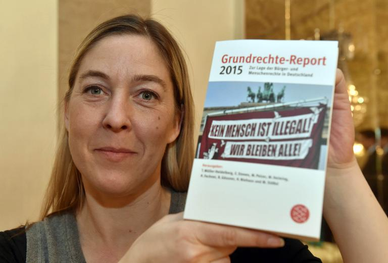 Grundrechte-Report warnt vor staatlicher Überwachung (© 2015 AFP)