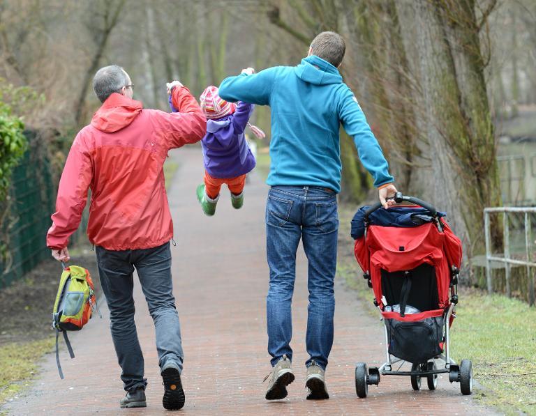 Union will weiter kein Adoptionsrecht für Homo-Paare (© 2015 AFP)