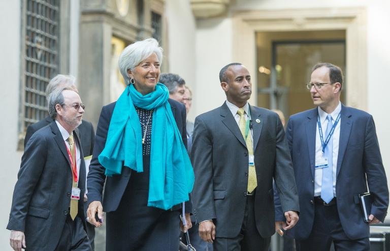 Lagarde: Viel Arbeit zur Lösung der Griechenlandkrise (© 2015 AFP)