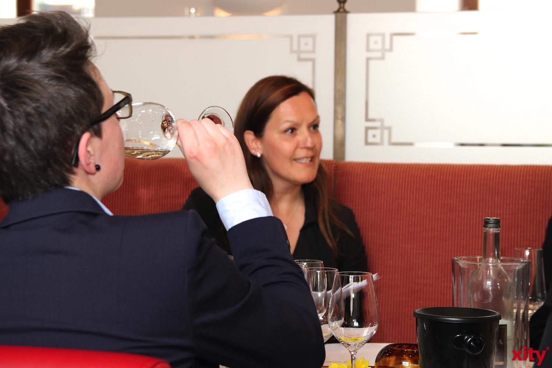 Feinschmecker kamen beim Weintasting in der Brasserie Stadthaus auf ihre Kosten (Foto: xity)