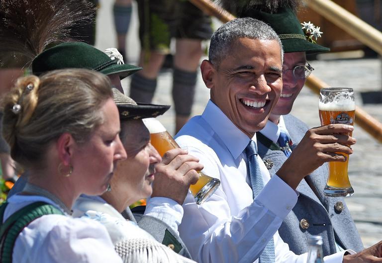 """""""Grüß Gott"""": Obama besucht vor G7-Gipfel Dorf in Bayern (© 2015 AFP)"""