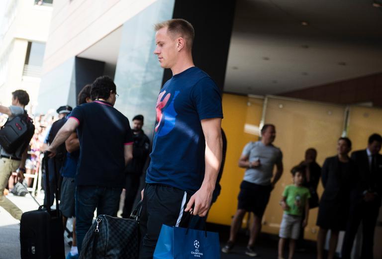 Barça beschwert sich über Zustände am Airport Schönefeld (© 2015 AFP)