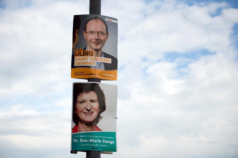 Schlappe für CDU bei Oberbürgermeister-Wahl in Dresden (© 2015 AFP)
