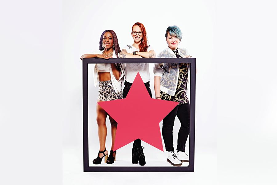 Stefanie Heinzmann, Miss Platnum und Bella Garcia sind die neue Jury bei Popstars 2015 (Foto: RTL II)