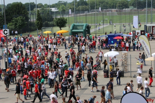 The Fortuna Triple: warm-up match, fan party & family day (Photo: Xity)