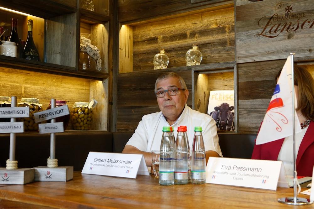 Gilbert Moissonnier, Organisator des Gourmetmarktes ?Les Saveurs de France? (Foto: xity)