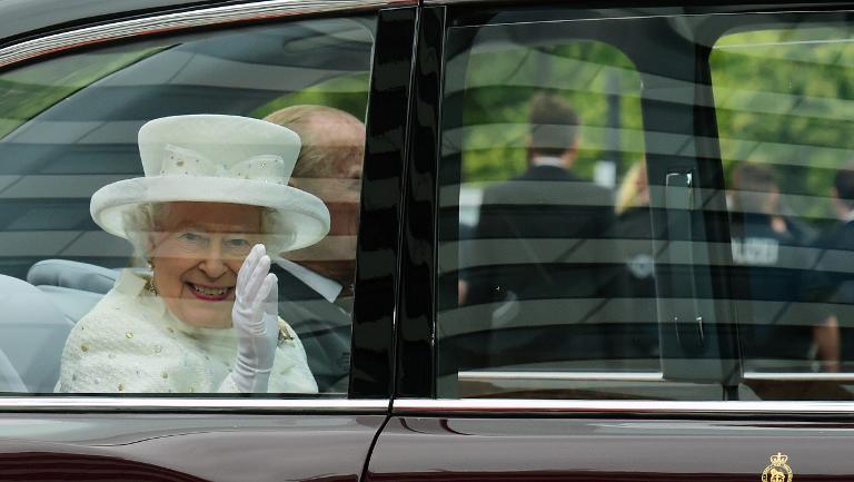 Königin Elizabeth II. besucht Frankfurt am Main (© 2015 AFP)