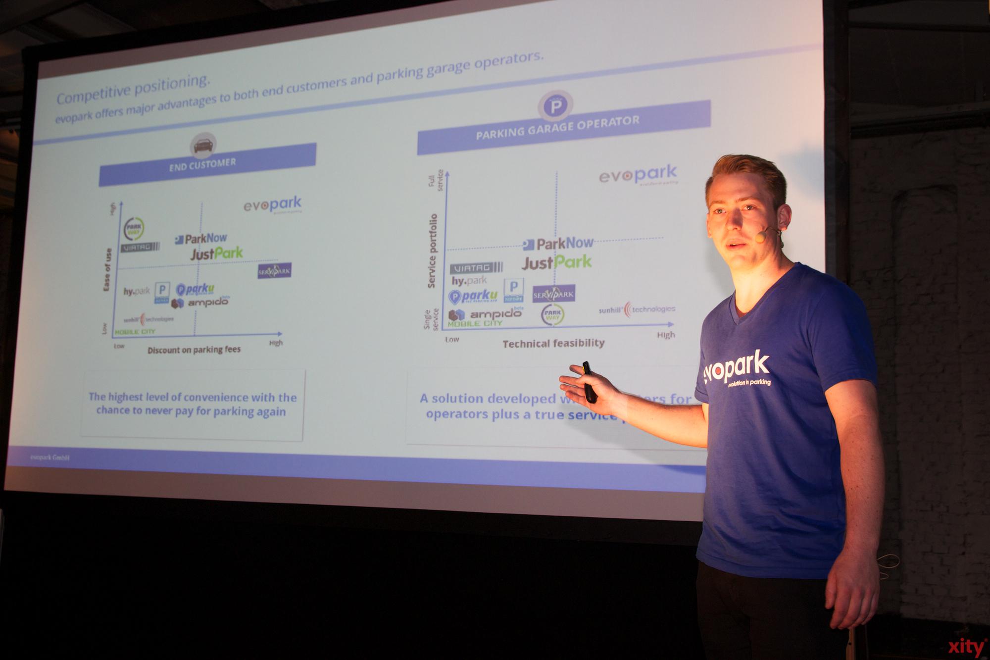 Das Start-up Unternehmen Evopark belegte den zweiten Platz (Foto: xity)