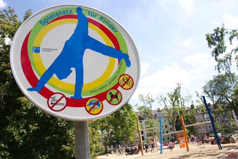 Ein Spielplatz in Gerresheim und zwei im Linksrheinischen sind ab sofort wieder zum Spielen freigegeben(Foto: xity)