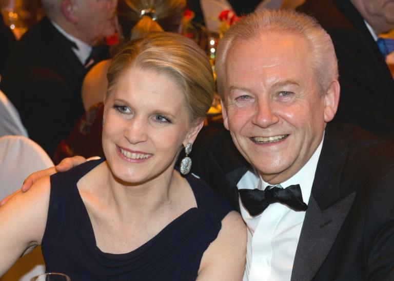 Bahn-Chef Grube und TV-Köchin Poletto heiraten (© 2015 AFP)