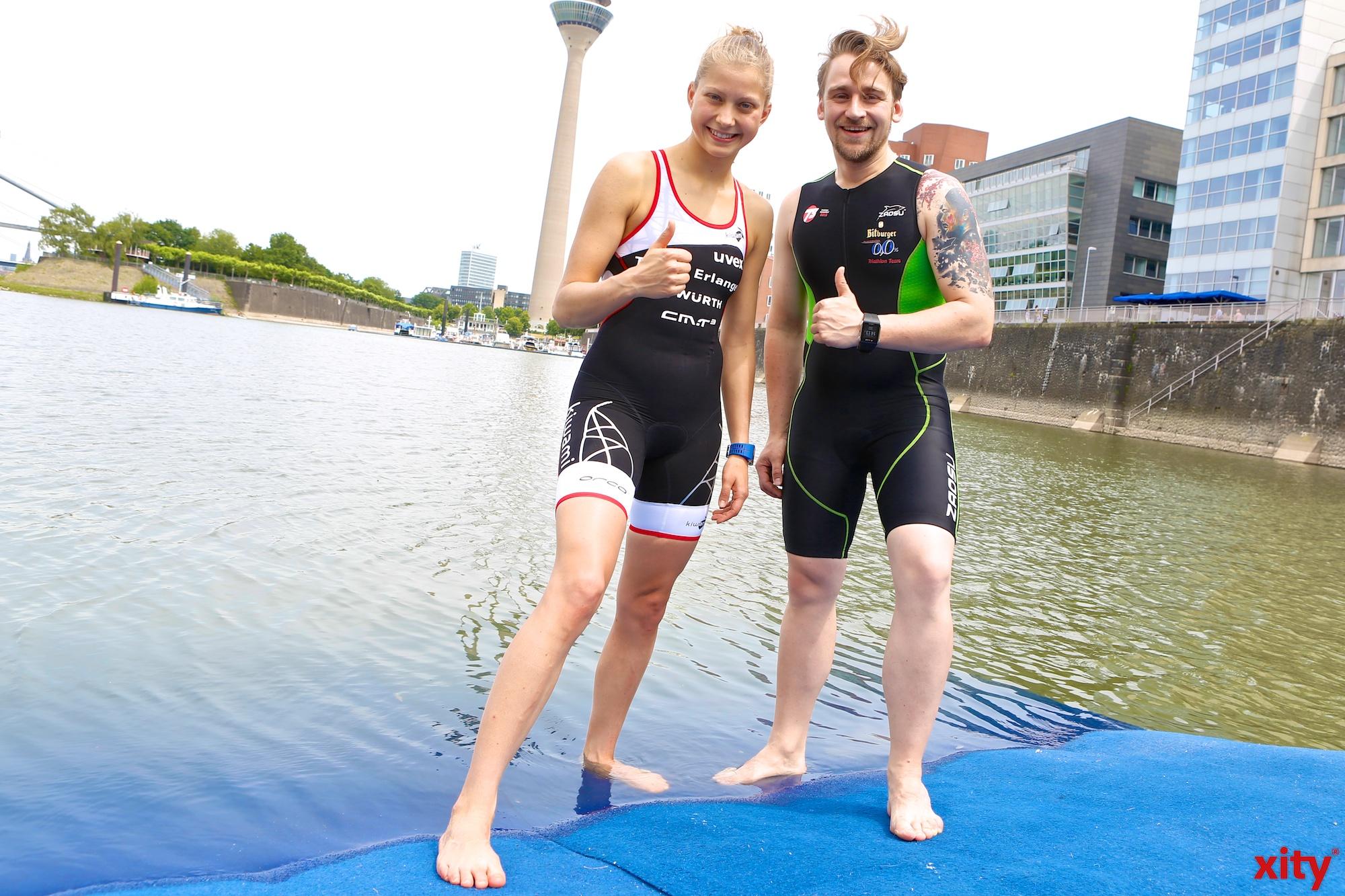Sophia Saller (l.) und David Kittel freuen sich auf das Rennen  (Foto: xity)