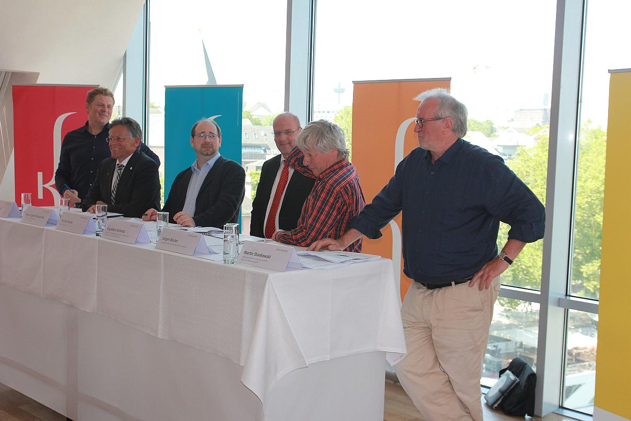 Pressegespräch zur Eröffnung des Rheinischen Kultursommers (Foto: Region Köln/Bonn e.V.)