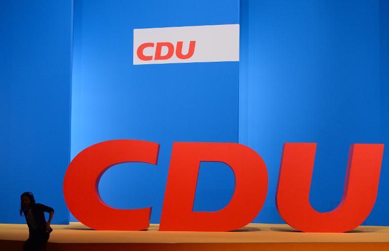 CDU feiert Festakt zu 70-jährigem Bestehen mit Merkel (© 2015 AFP)