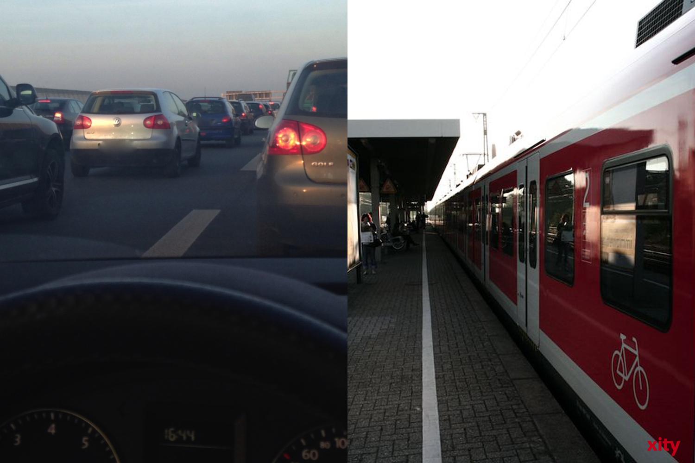 """Die A40 und Strecken der """"S1"""" werden parallel gesperrt (Foto: xity)"""