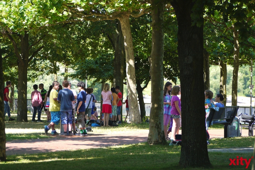 Große Resonanz bei der Aktion Kinderrechte in Düsseldorf (Foto: xity)