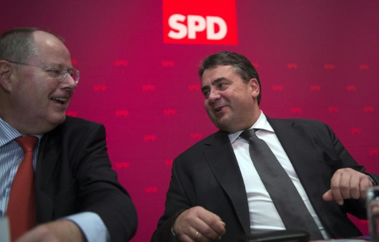 Steinbrück für Kanzlerkandidatur Gabriels (© 2015 AFP)