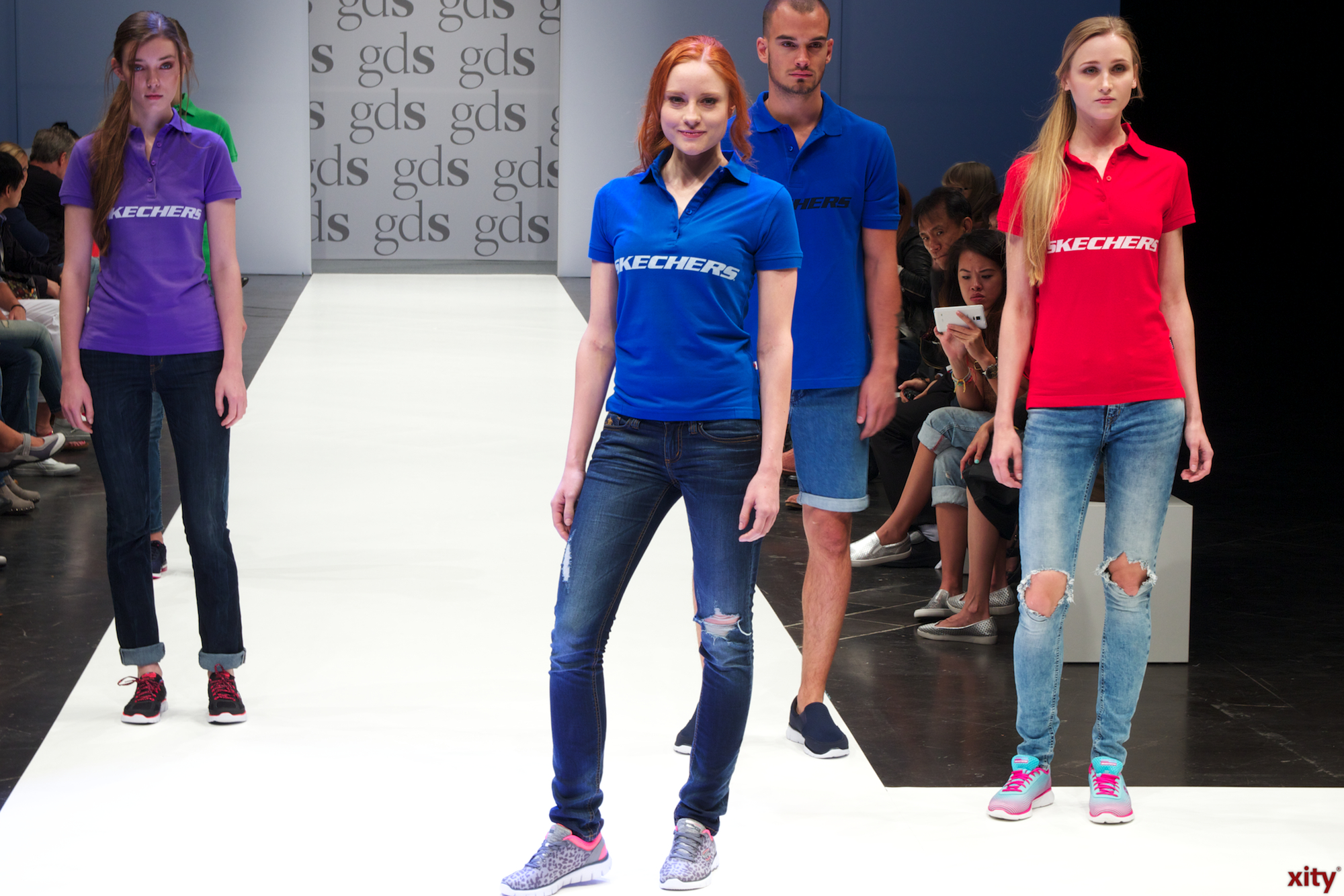 Barbara Meier ran at the GDS on the catwalk for SKECHERS (Photo: xity)