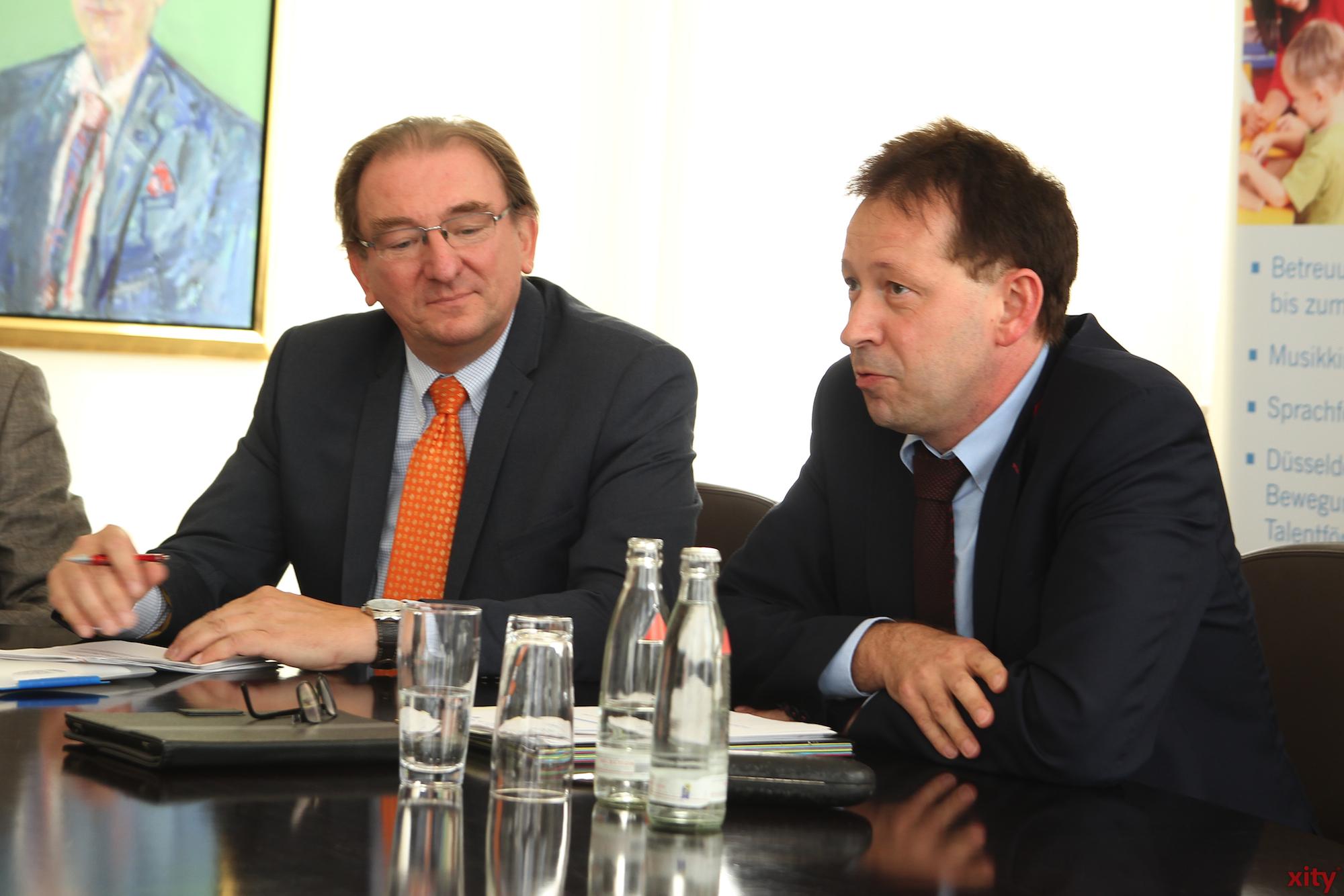 Jugendamtsleiter Johannes Horn und Jugenddezernent Burkhard Hintzsche (Foto: xity)