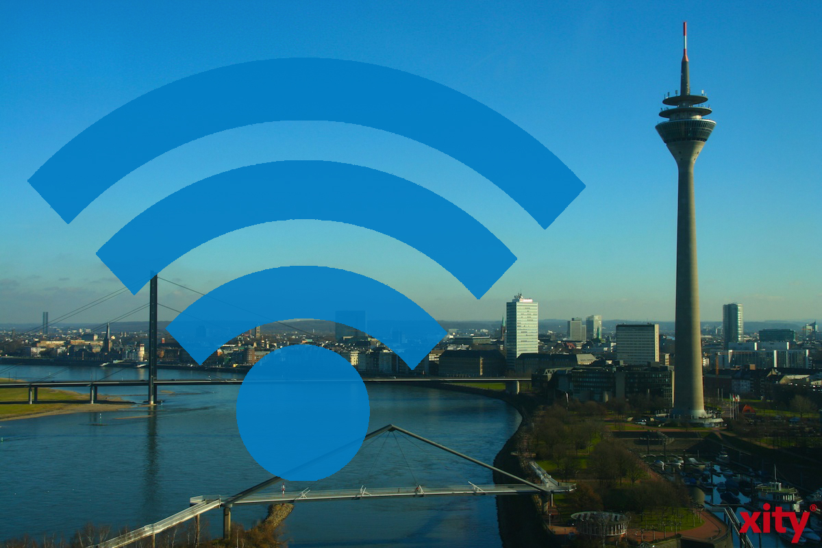 33 wifi spots were activated today in Düsseldorf from Unitymedia (Photo: xity)