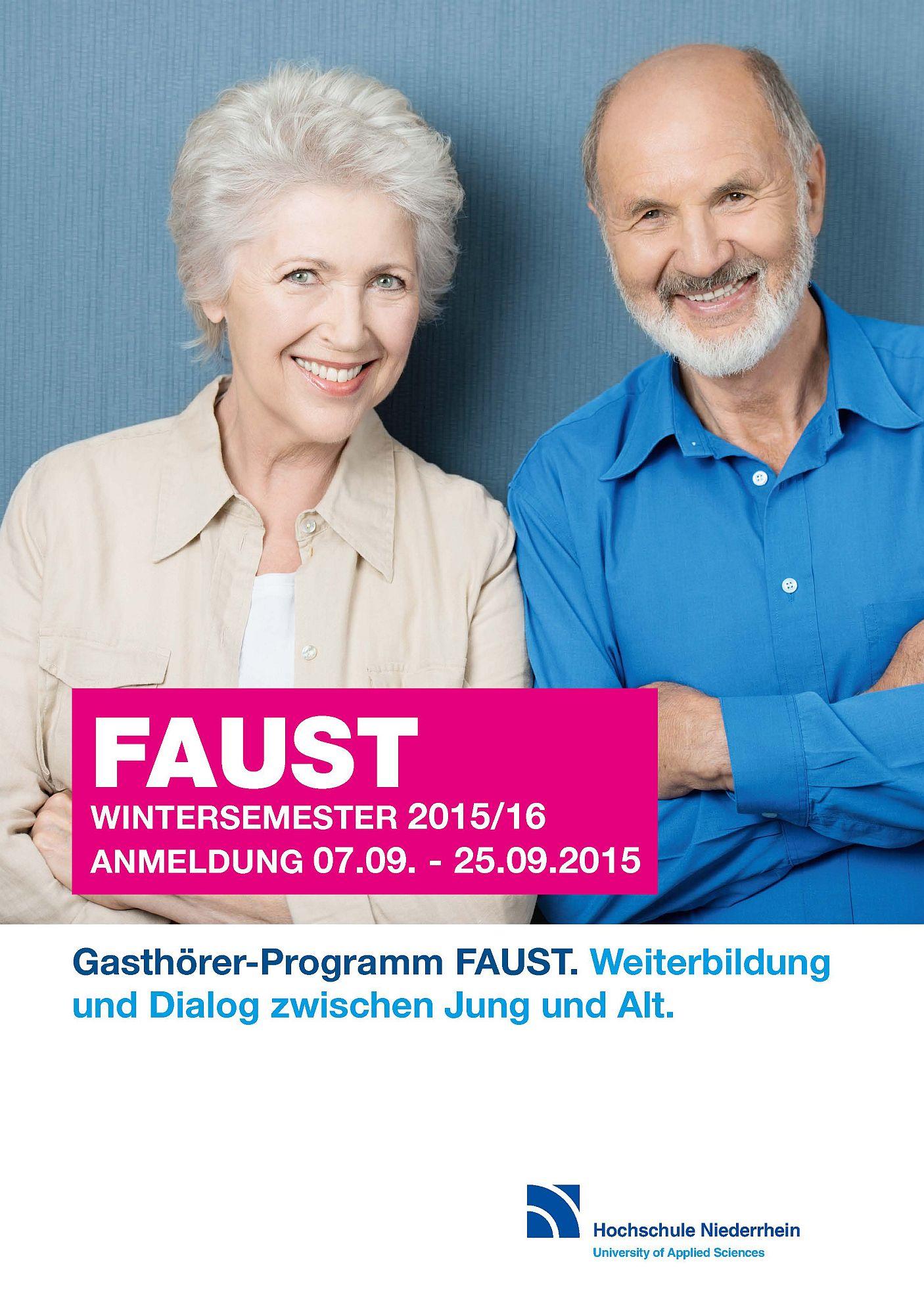 Das FAUST-Gasthörerprogramm für das Wintersemester 2015/2016 ist ab jetzt erhältlich.  (Foto: Hochschule Niederrhein)